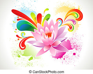 abstract colorful grungy lotus background