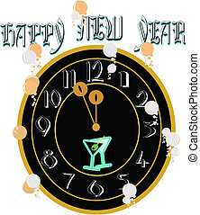 new years clock for 2012