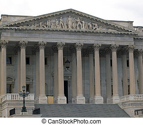 Details of the United States Capitol Building in Washington DC