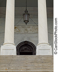 Details of the United States Capitol Building in Washington...