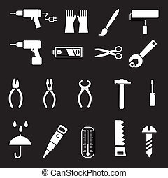 Hand tools - vector icons - Hand tools and DIY tools - set...