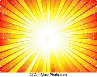 abstract yellow sunbeam background vector illustration