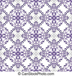 White seamless pattern with rhombuses - White seamless...