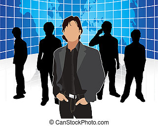 abstract corporate people template  vector illustration