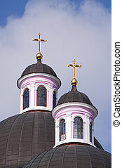 Church dome with cross