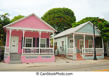 conch houses - typical houses in the conch style...