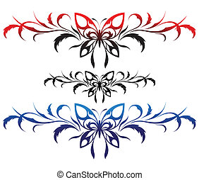Butterflies with a flower pattern,