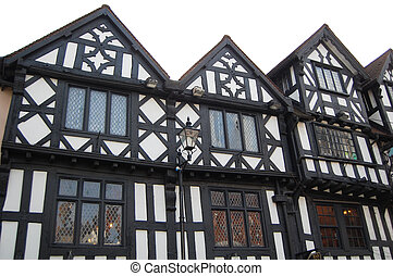tudor historic buildings - black and white tudor historic...