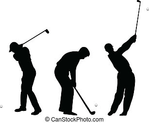 Golf silhouettes - vector