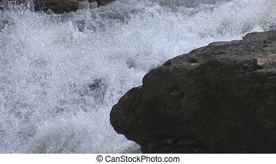 waterfall 22 - waterfalls on a mountain river Pistynka...