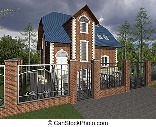 3D sketch of house