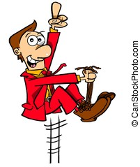BootlacesWBG - Man in red suit pulling himself up by his own...