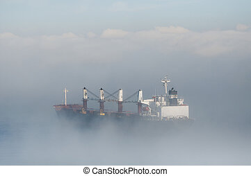 Tankers in the Mist