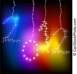 Sparkle new year background. Vector