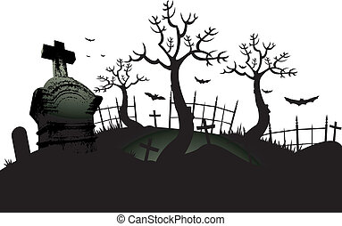 Cemetery background - Halloween cemetery background