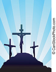 Easter background - jesus on the cross