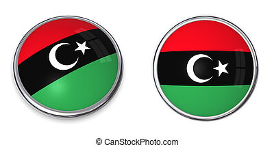 Banner Button Libya 2011 - button style banner in 3D of...