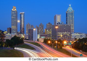 Atlanta Skyline - Skyline of downtown Atlanta, Georgia from...