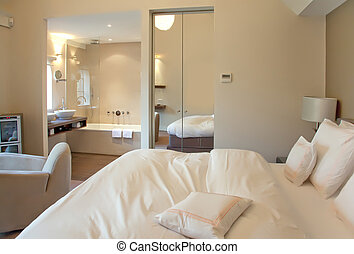 hotel room - Double bed in modern hotel room