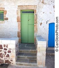 Green house door