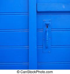 old blue door closeup, background