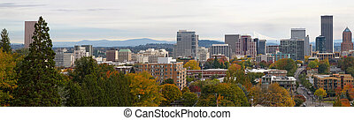 Portland Oregon Cityscape in Fall