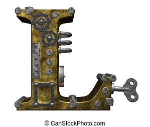 steampunk,  L, carta
