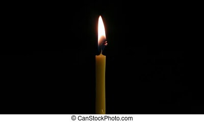 timelapse burning down candle