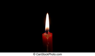 timelapse burning red candle