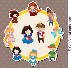 cartoon story people card