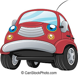 Car - Illustration of a Car Gearing Up