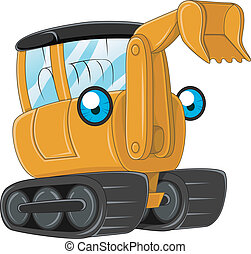 Excavator - Illustration of an Excavator at Work