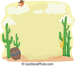 Desert Background - Background Illustration Set in a Desert