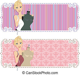 Fashion Design Web Banner - Illustration of a Web Banner...