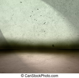 Concrete floor and wall