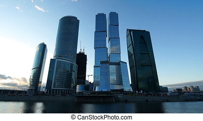 Moscow City business center, time-transition