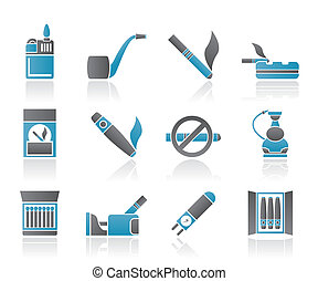 Smoking and cigarette icons