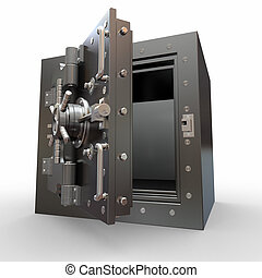 Safe in stainless steel Bank Vault 3d
