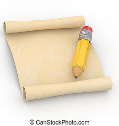 rulla, blyertspenna, 3