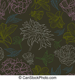 Vector seamless floral pattern with herbarium (from my big...