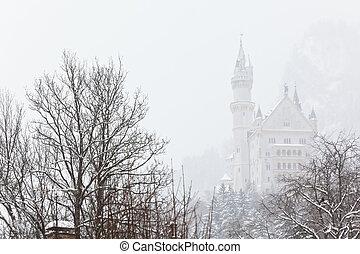Neuschwanstein Castle - Bavarian Neuschwanstein Castle at...