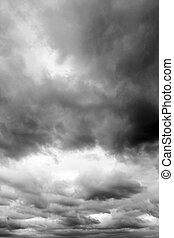 Storm clouds - Dark ominous clouds. Dramatic sky.