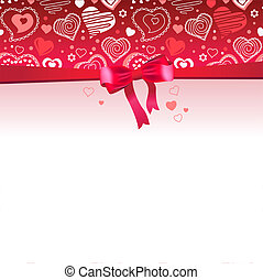 Pink saint valentine's frame with contour hearts