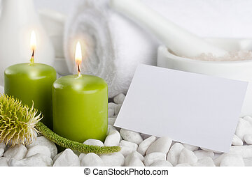 Spa set with candles