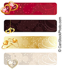 For horizontal banners with rings,puby and hearts