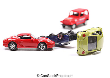 Pile up - Car crash with toy cars