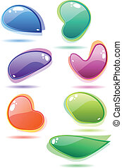 Modern glass speech bubbles. - Ten modern glass speech...