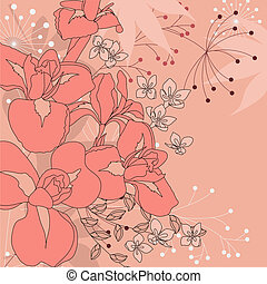 Pink floral background