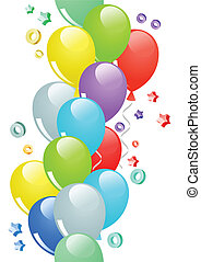 Seamless border with balloons
