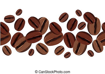 Border with coffee beans - Seamless border with coffee beans